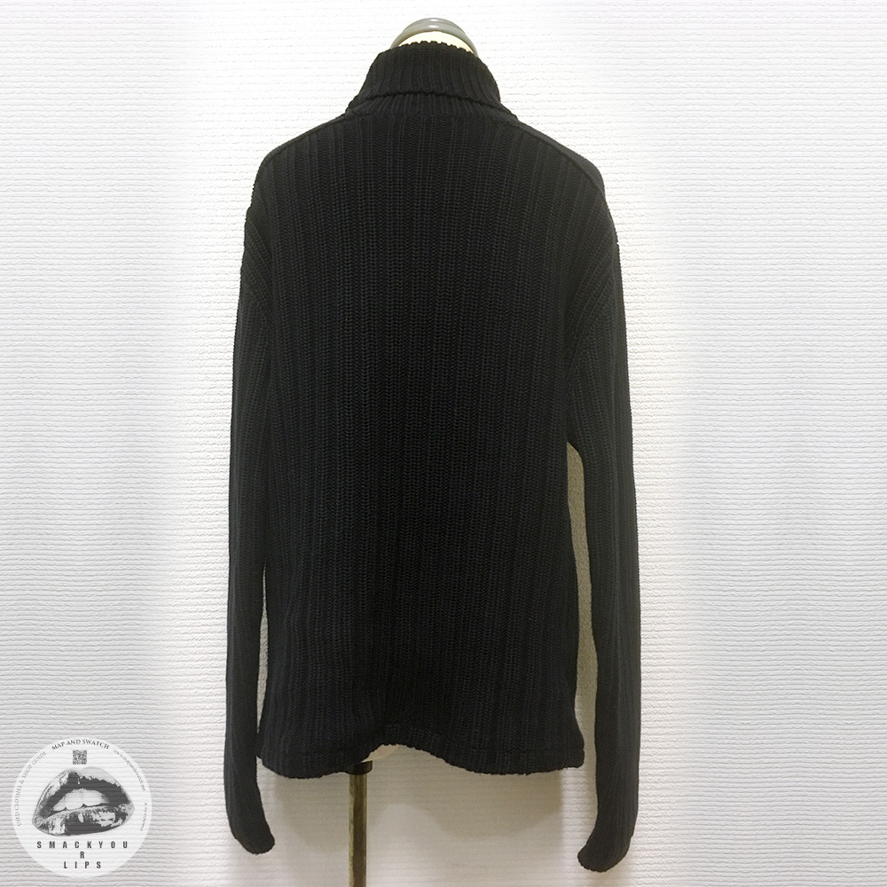 Wide Rib Turtleneck Cotton Knit