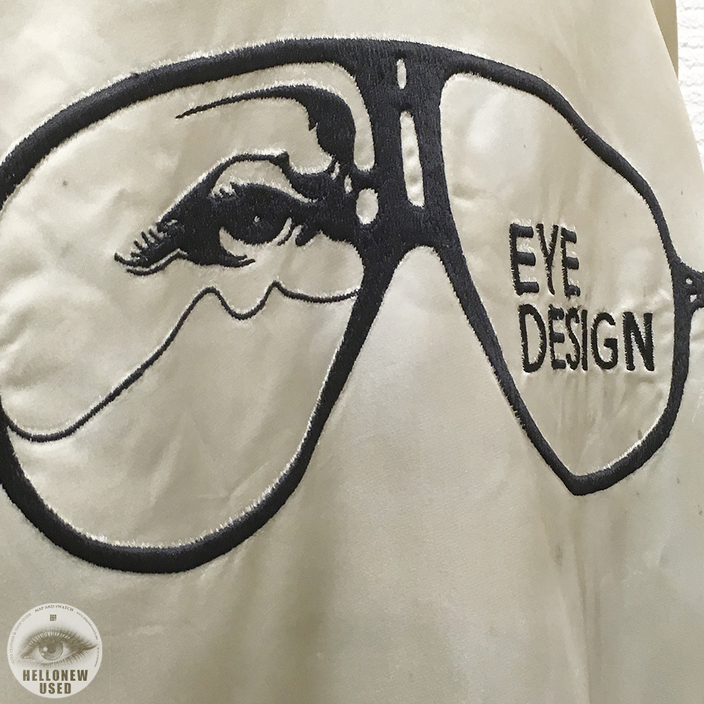 "Embroidered Blouson ""EYE DESIGN"""