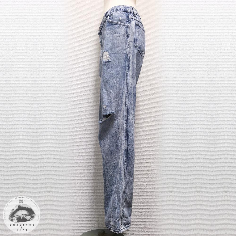 Chemical Washed Denim Pants