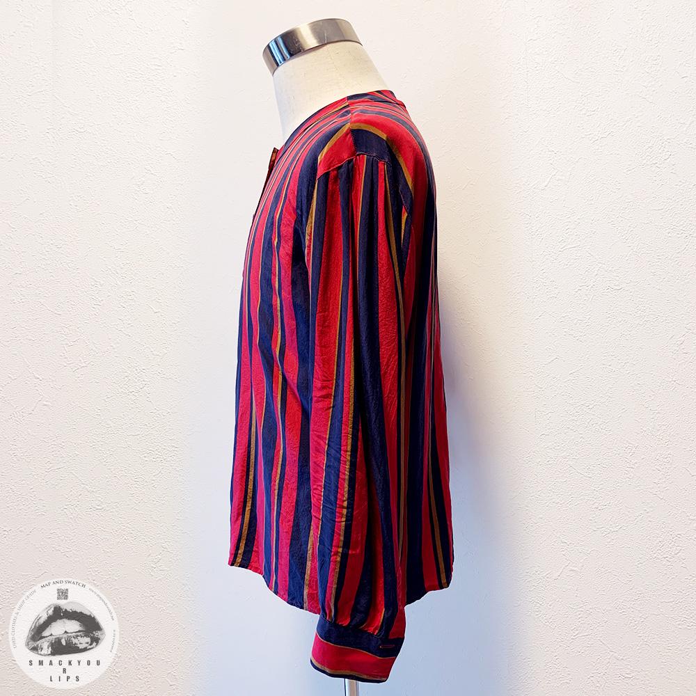 British Stripe Silk Shirts