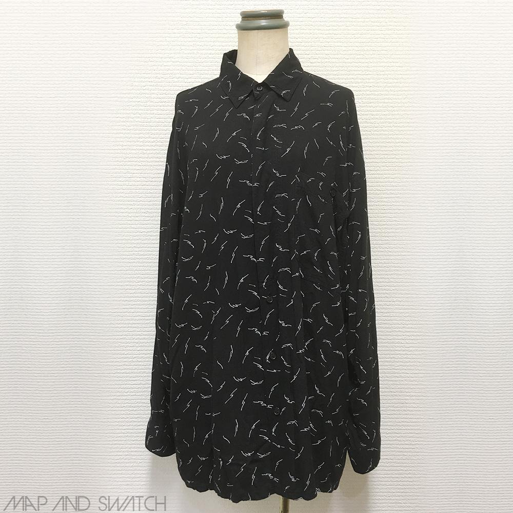 Monotone Rayon Pattern Shirt
