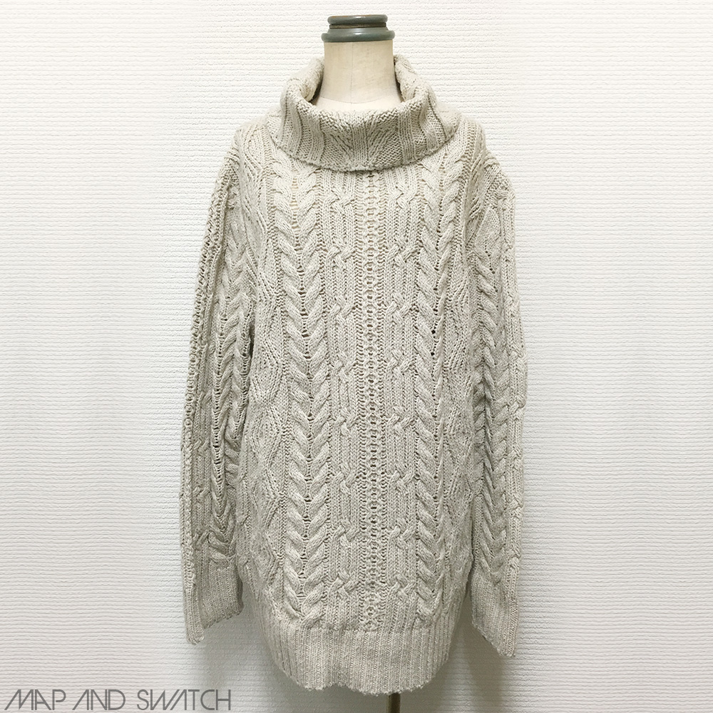 Cowlneck Cable Pattern Knit