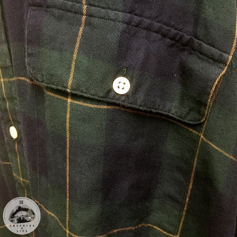 Dark Plaid Rayon Shirt