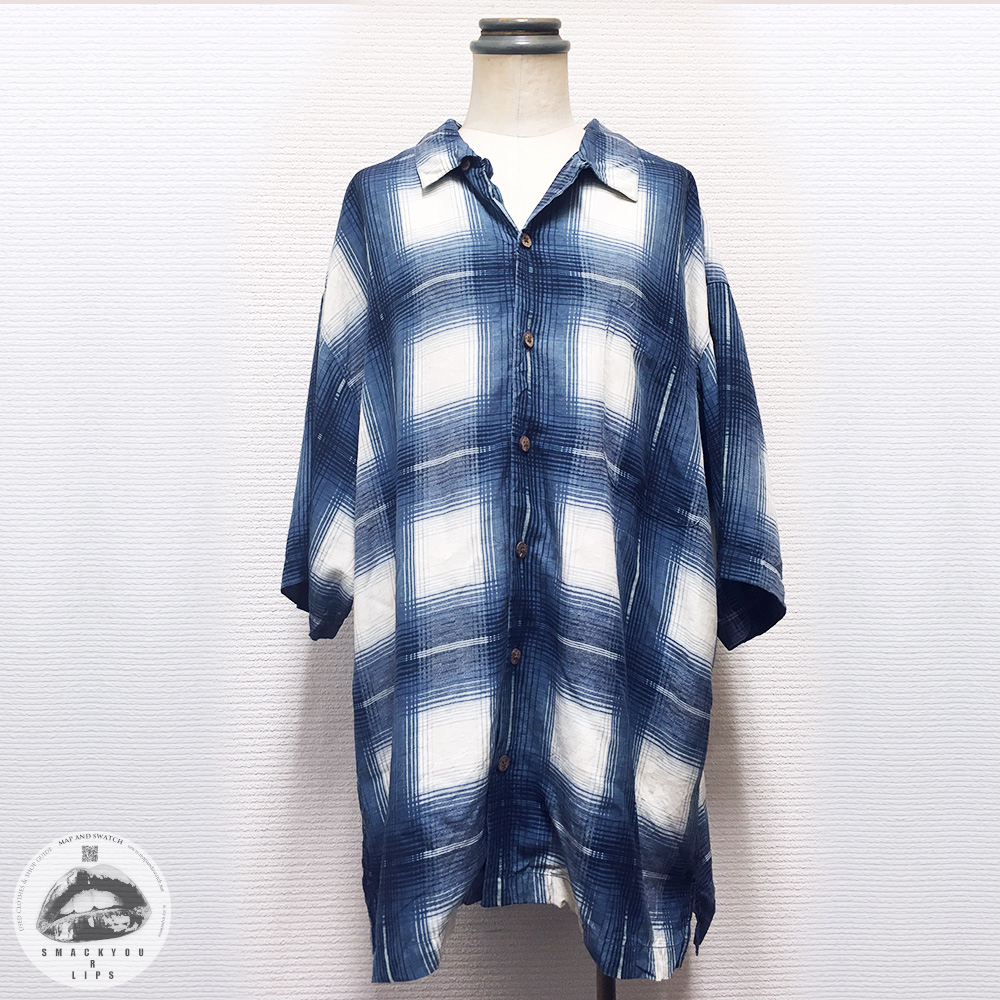 Silk Plaid Open Collar Shirts