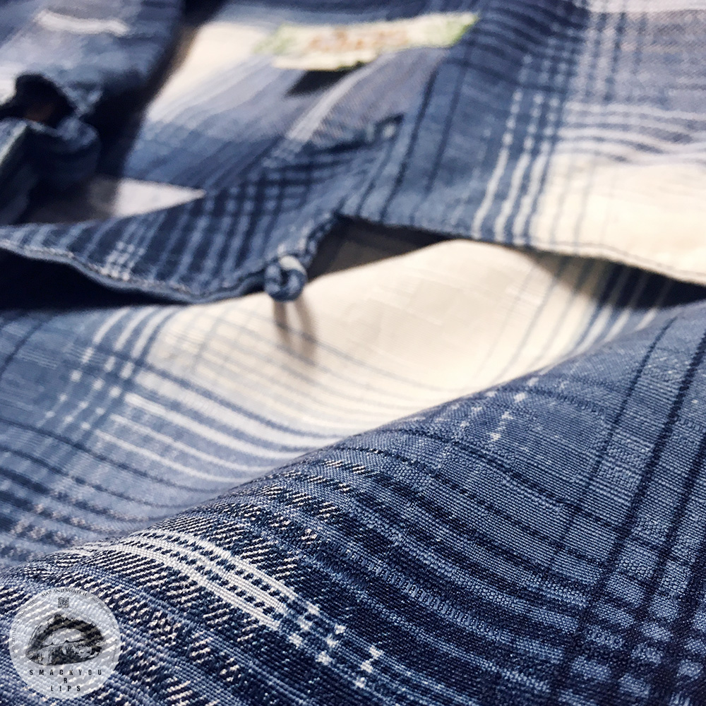 Silk Plaid Open Collar Shirts