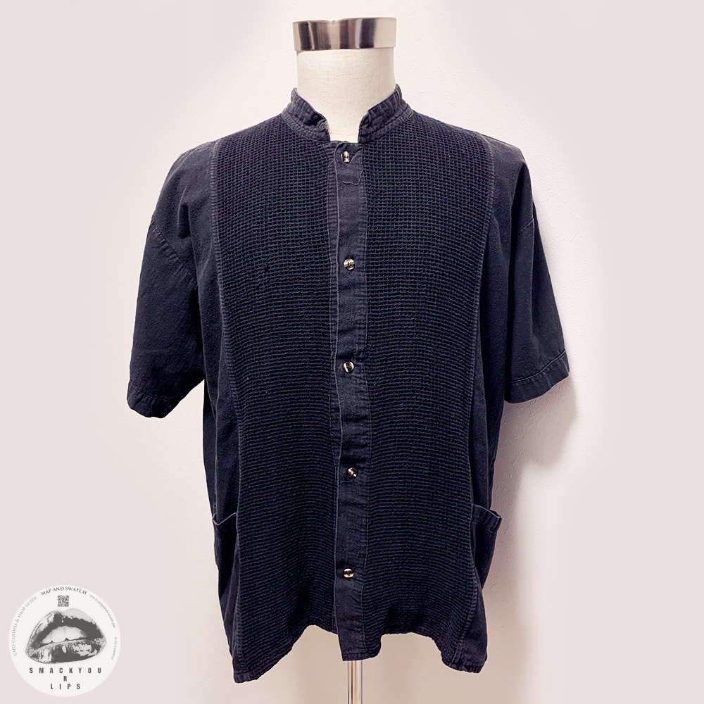 Faded Black Net Shirt