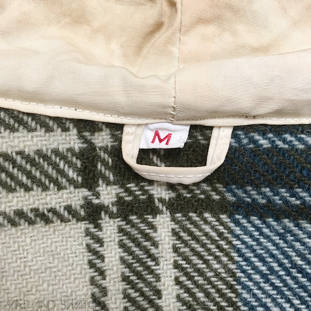 Wool Check Hooded