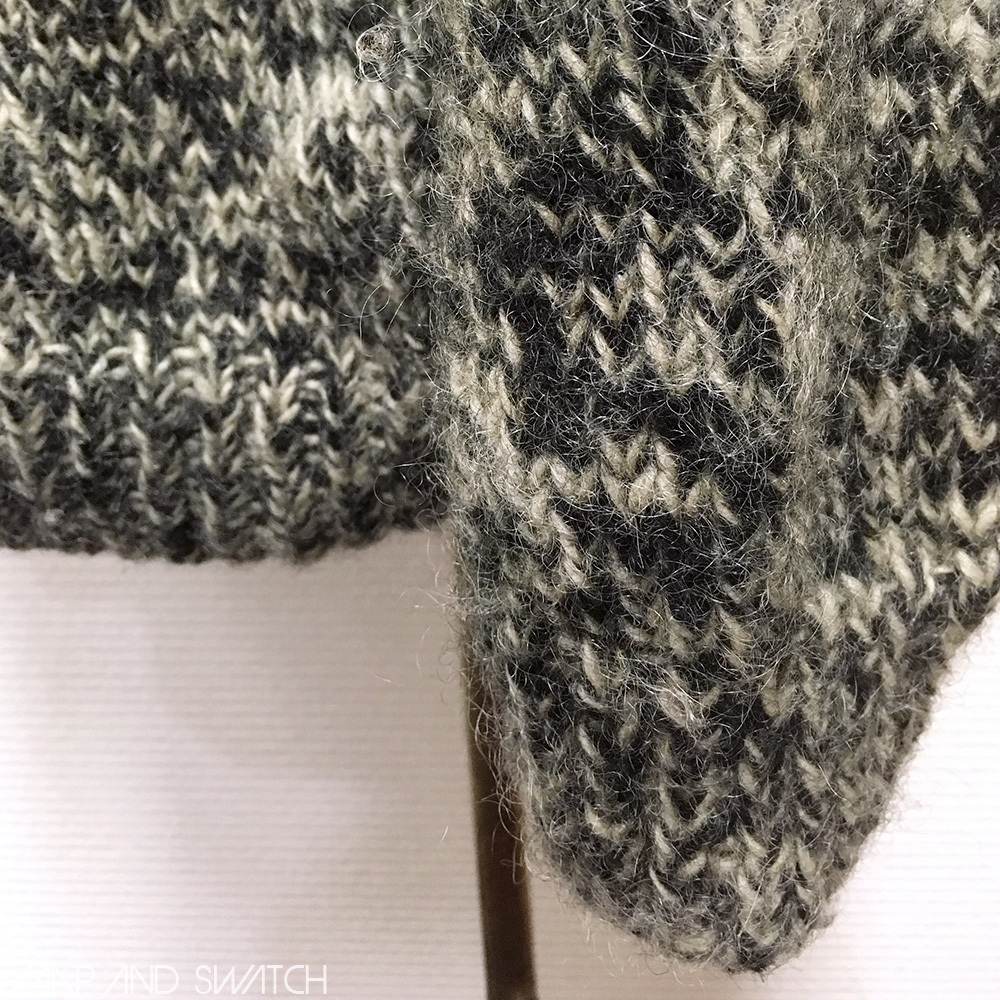 Mix color Low gauge Hand Knit