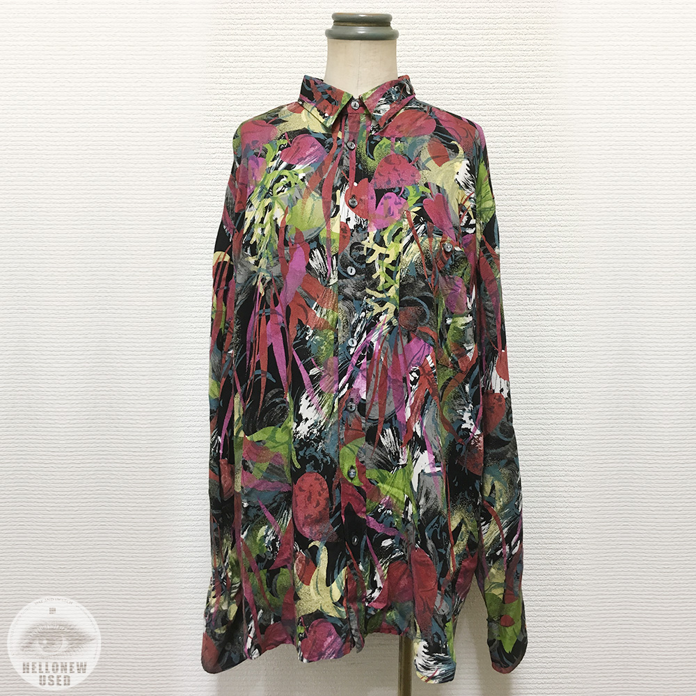 Botanical Pattern Rayon Shirt