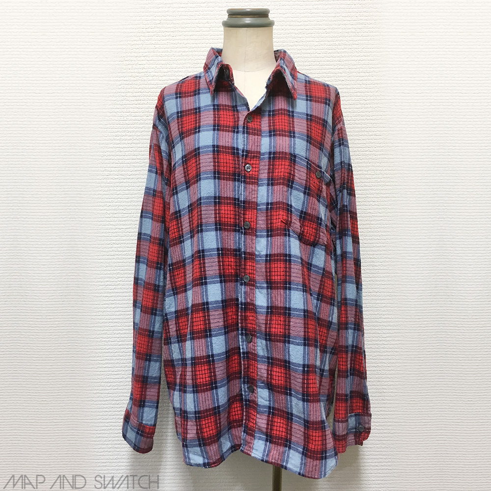 Print Flannel Shirt (Bright Check)