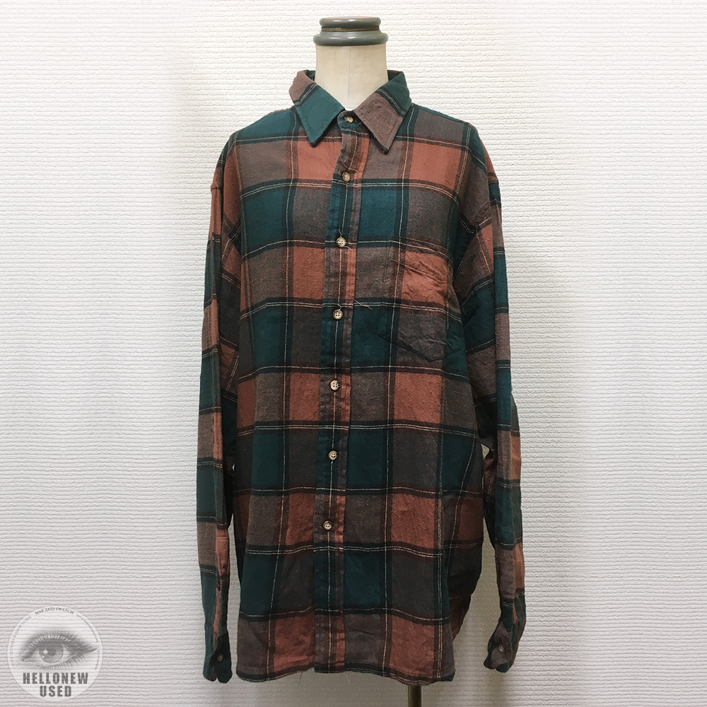 Dark Orange Plaid Shirt