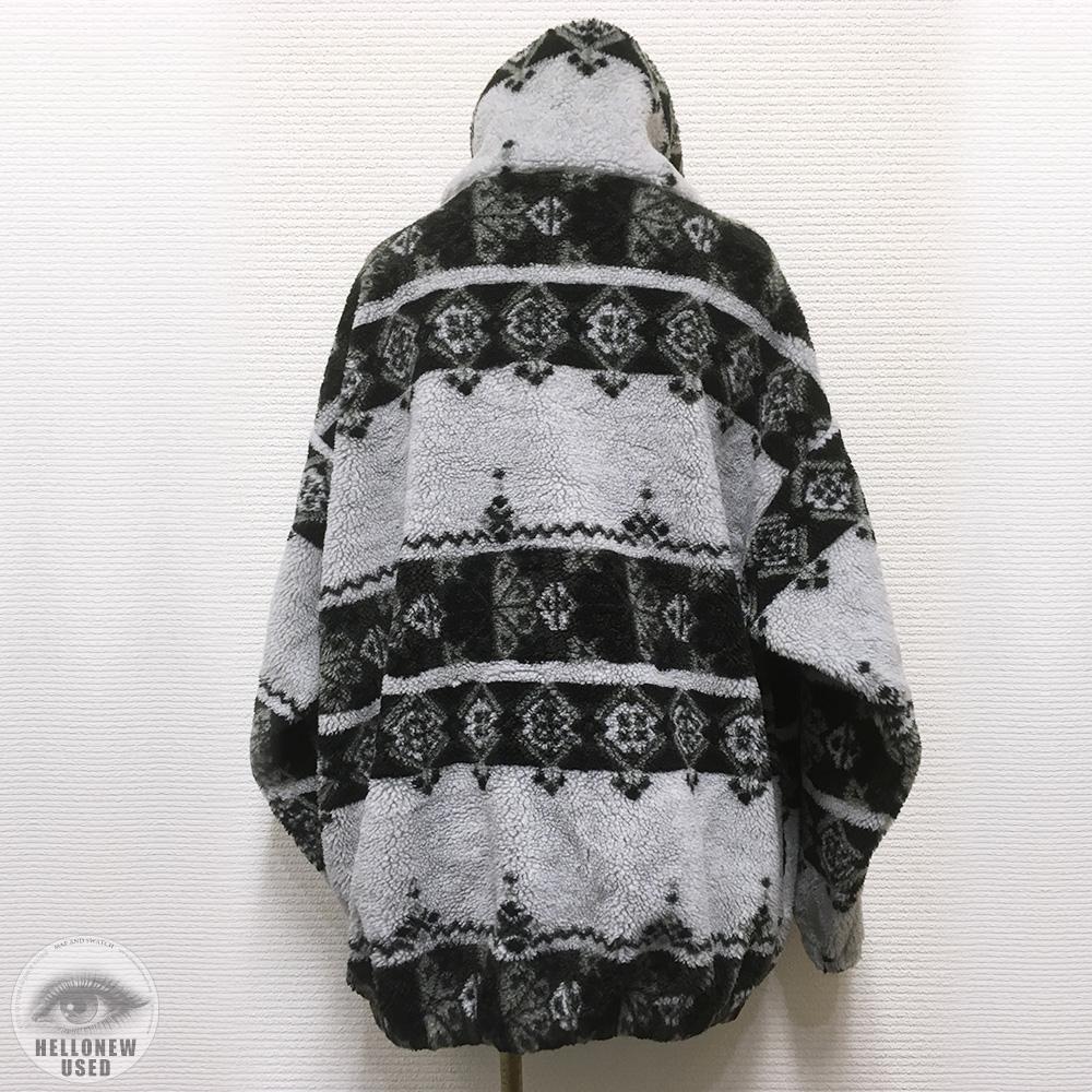 Monotone Pattern Fleece Jacket