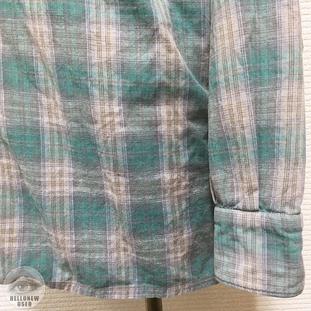 Faded Check Open Collar Shirt