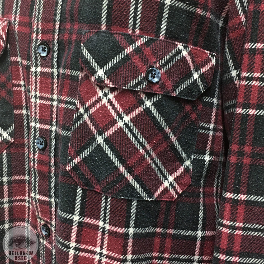 Red and Black Printed Flannel Shirt