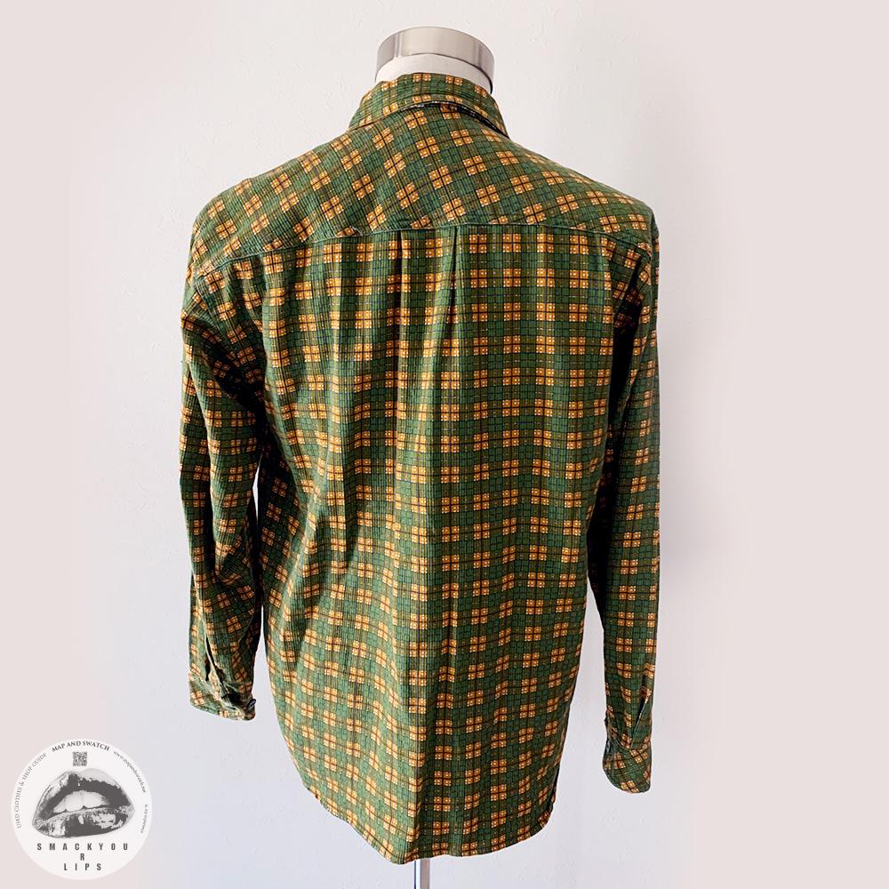 Printed Plaid Zip Shirt