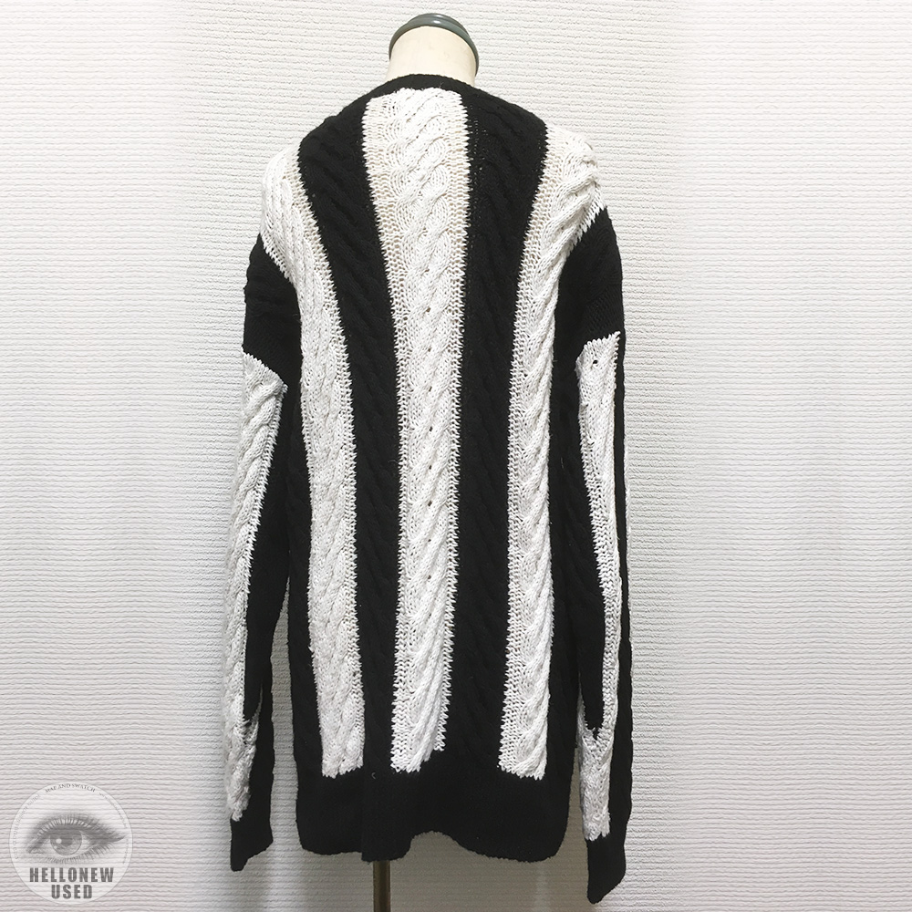Monotone Stripe Cotton Knit