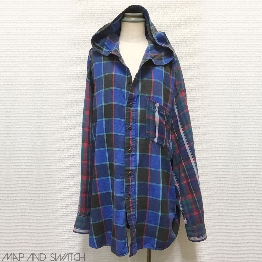 Over Sized Crazy Check Hooded