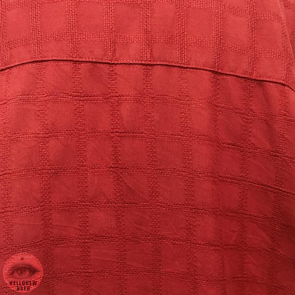 "Short Sleeve Silk Shirts ""Vermillion grid"""