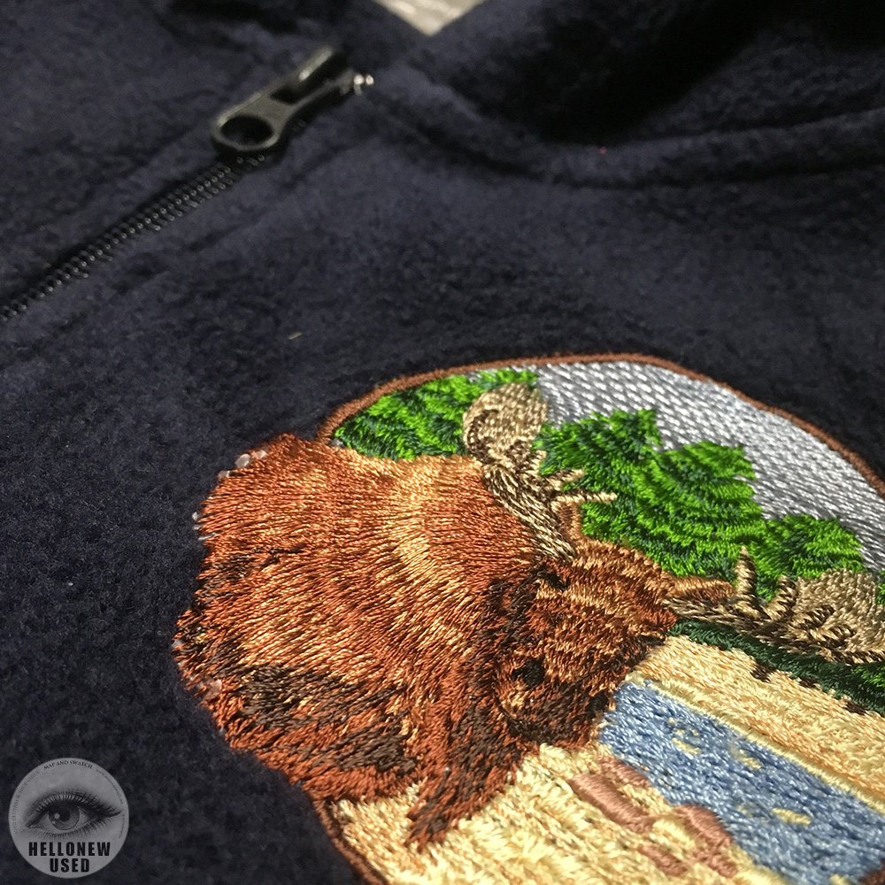 Fleece Hooded With Patch