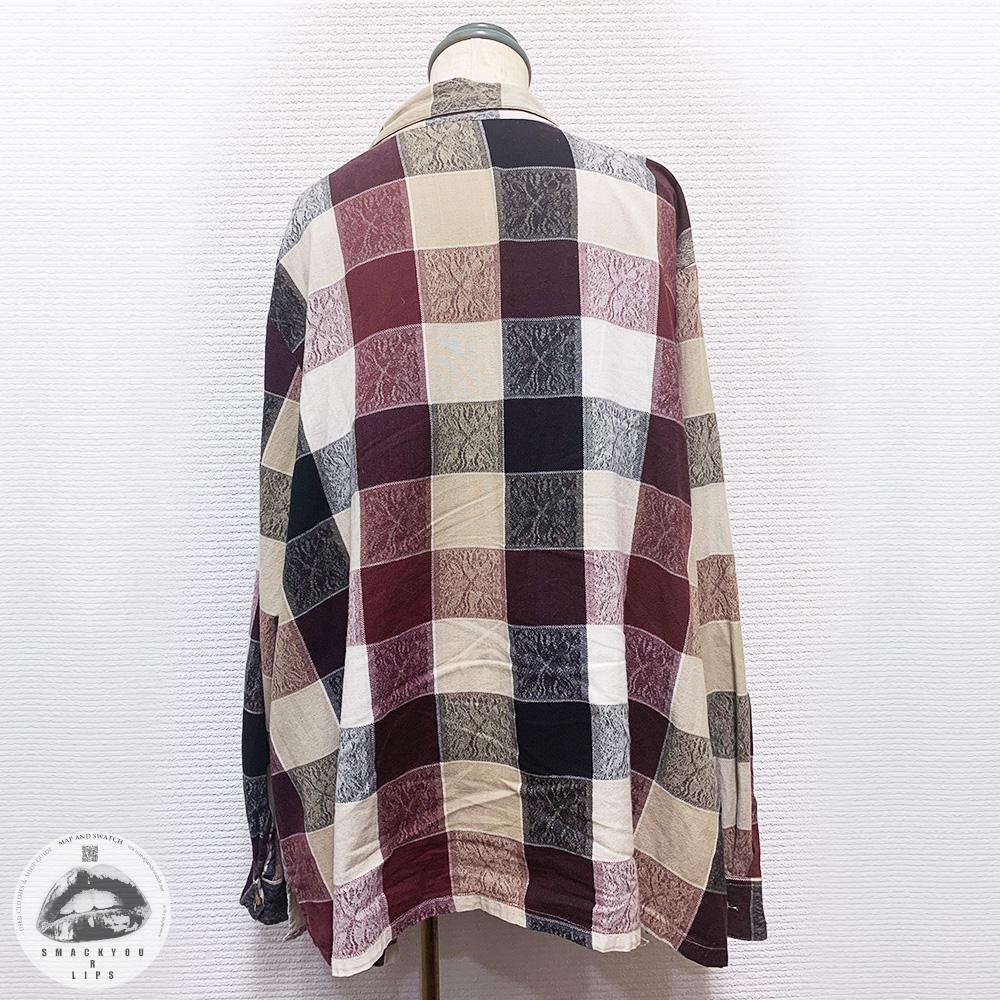 Plaid & Pattern Zipup Shirt