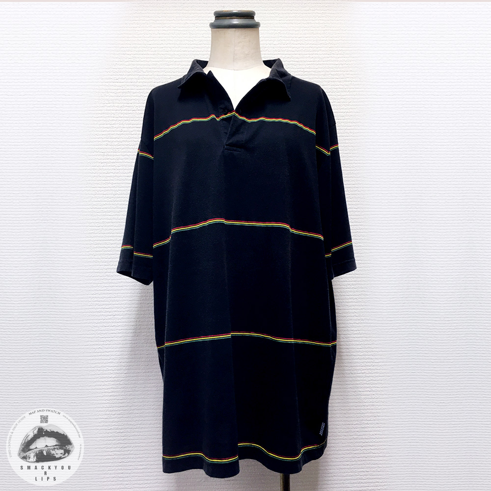 Rastafarian Border Polo Shirt