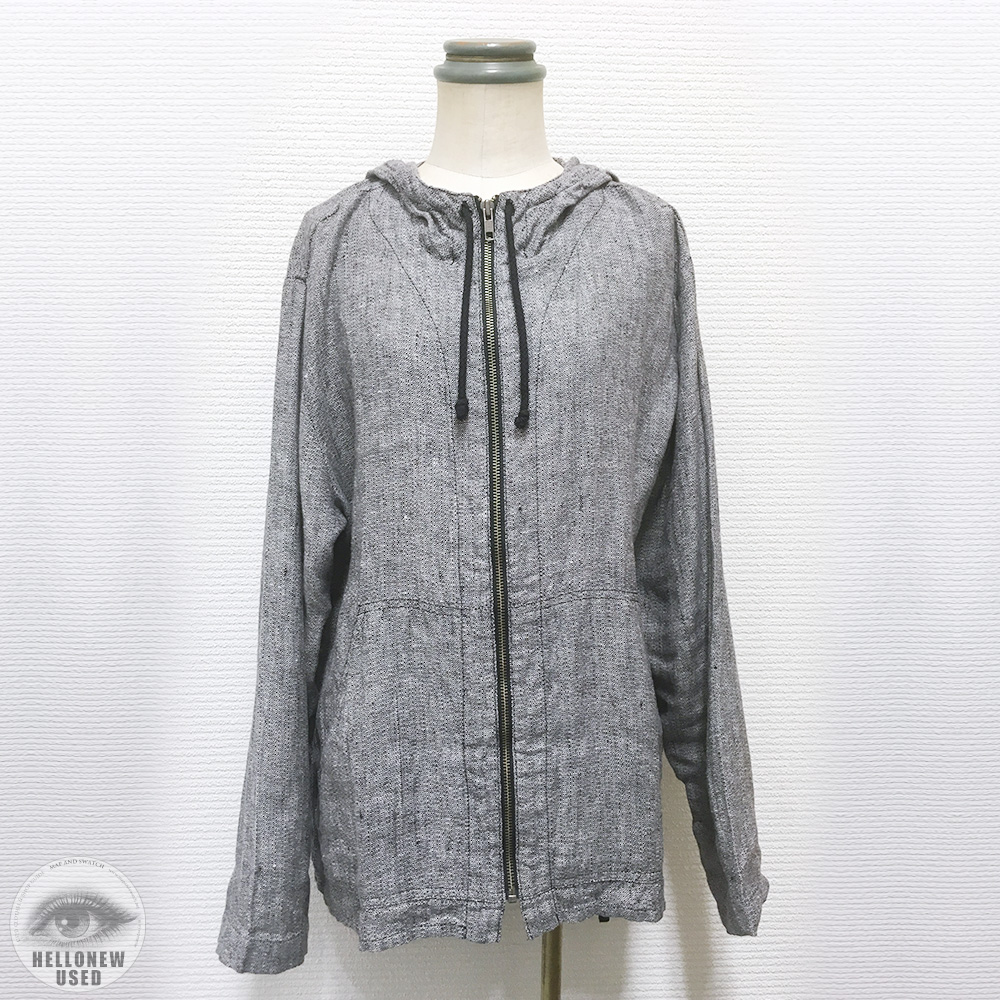 "Linen Hooded ""I AM HAPPY"""