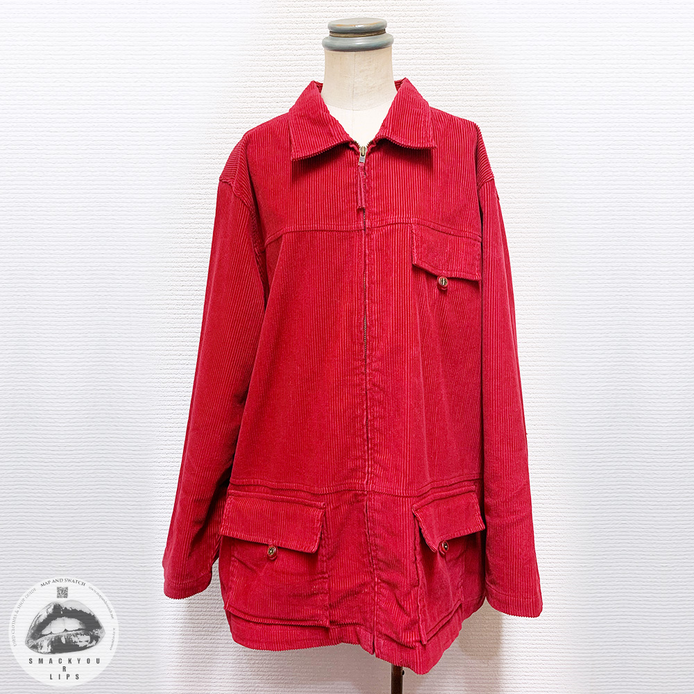 Red Cords Zipup Shirt