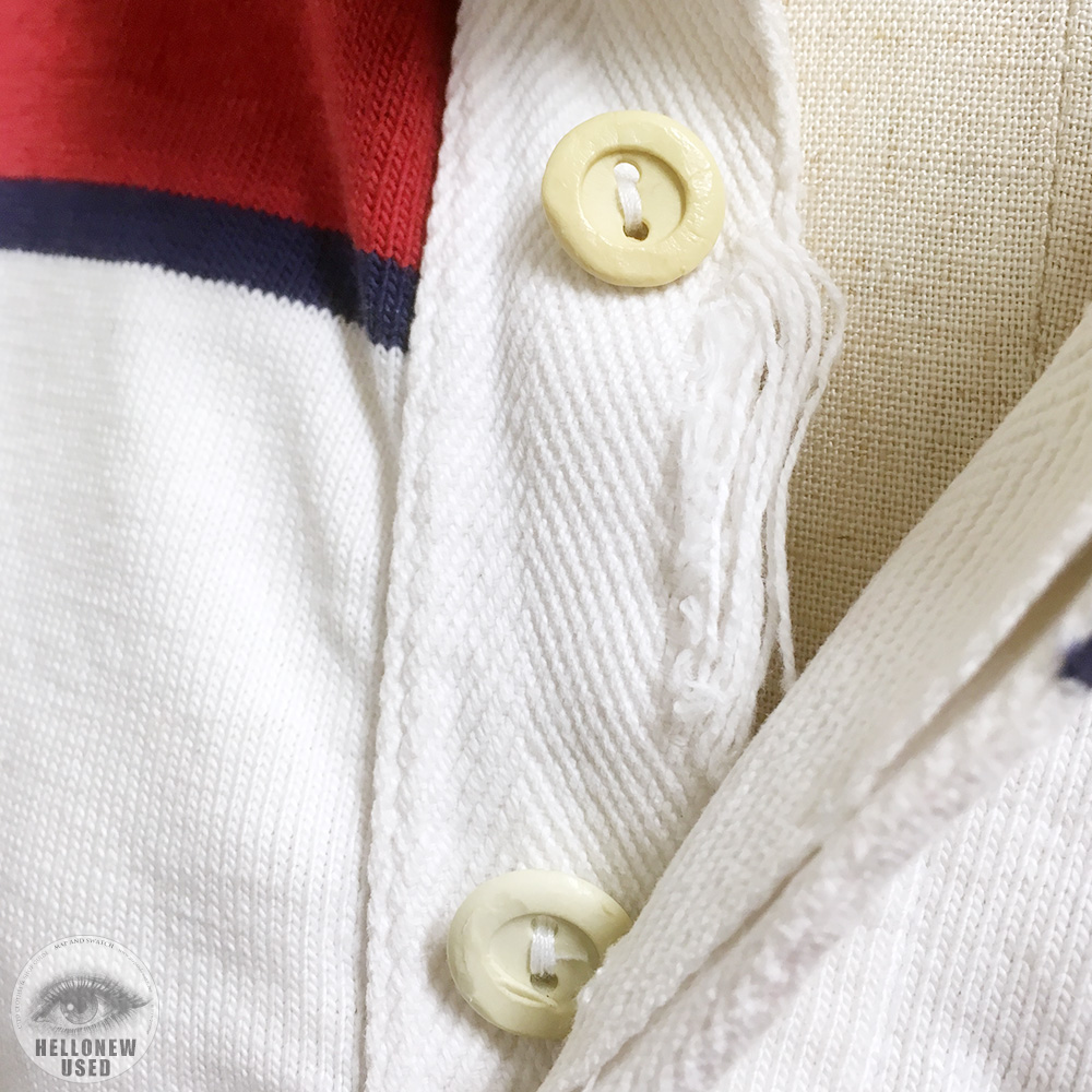 Red and White Striped Rugby Shirt