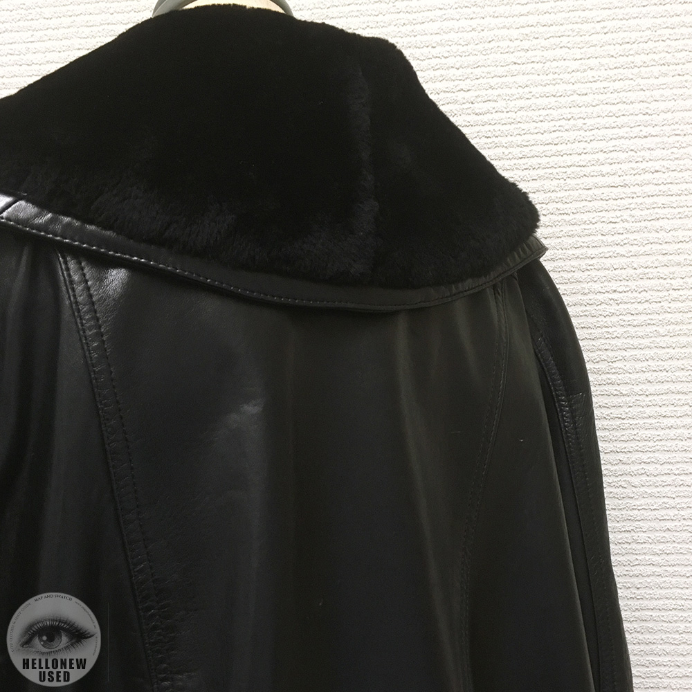 Leather Shawl Coat