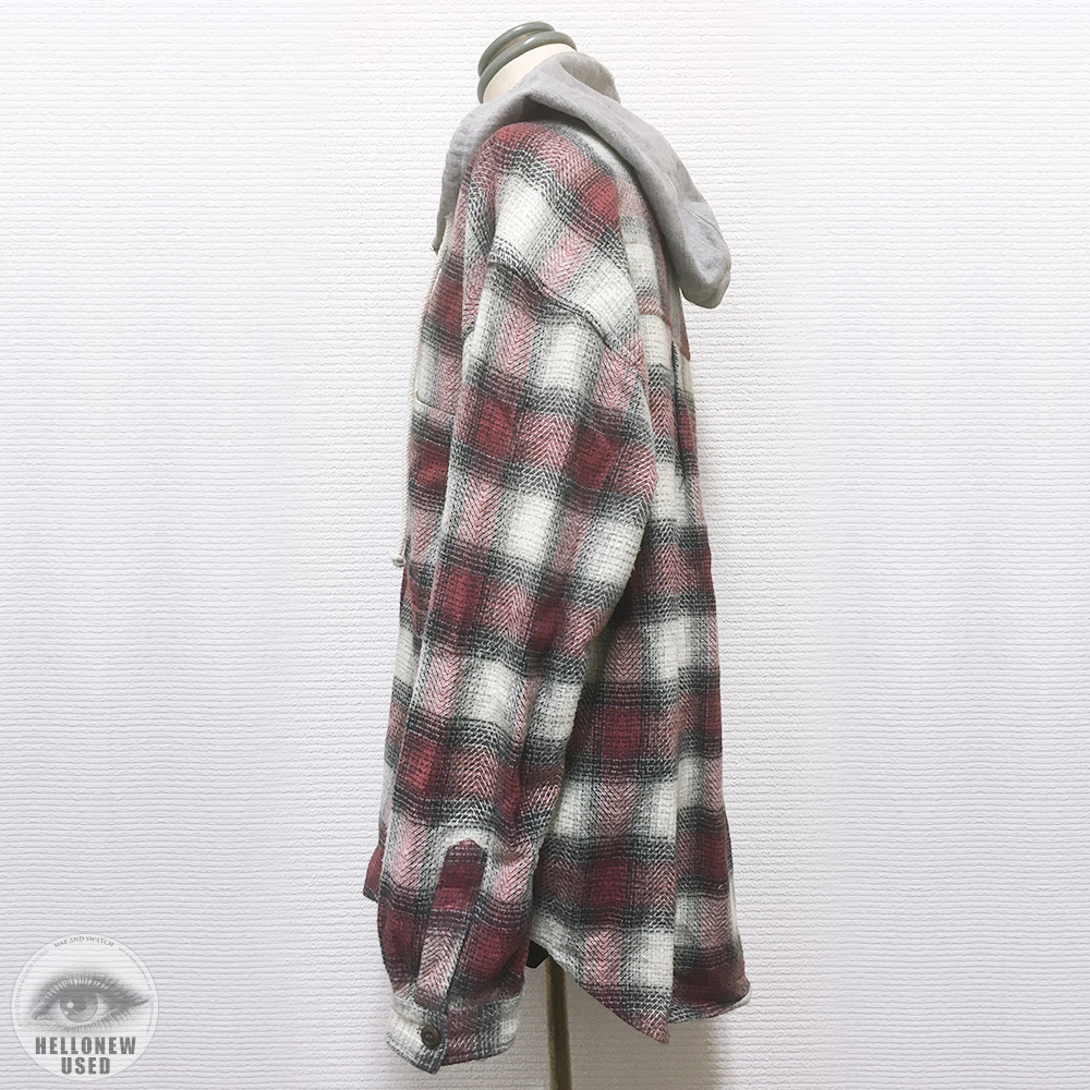 Hooded Plaid Flannel Shirt