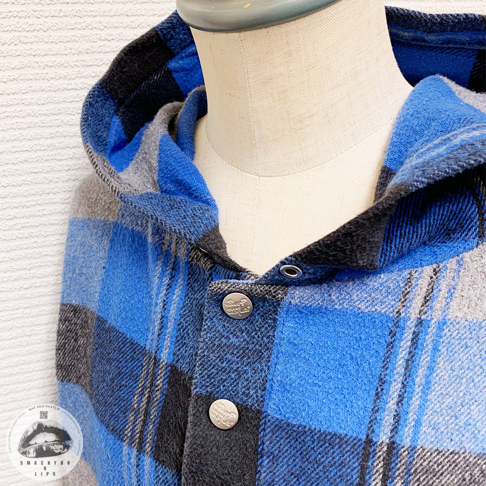 Blue Plaid Anorak