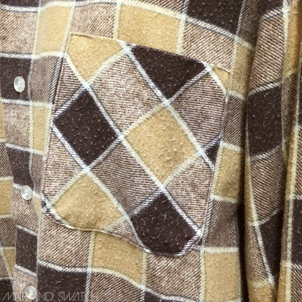 Print Flannel Shirt (Warm Brown)