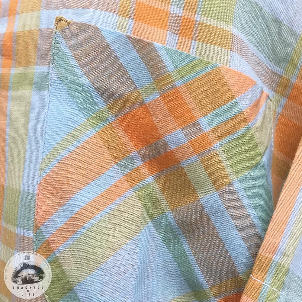 Plaid Open Collar Shirt
