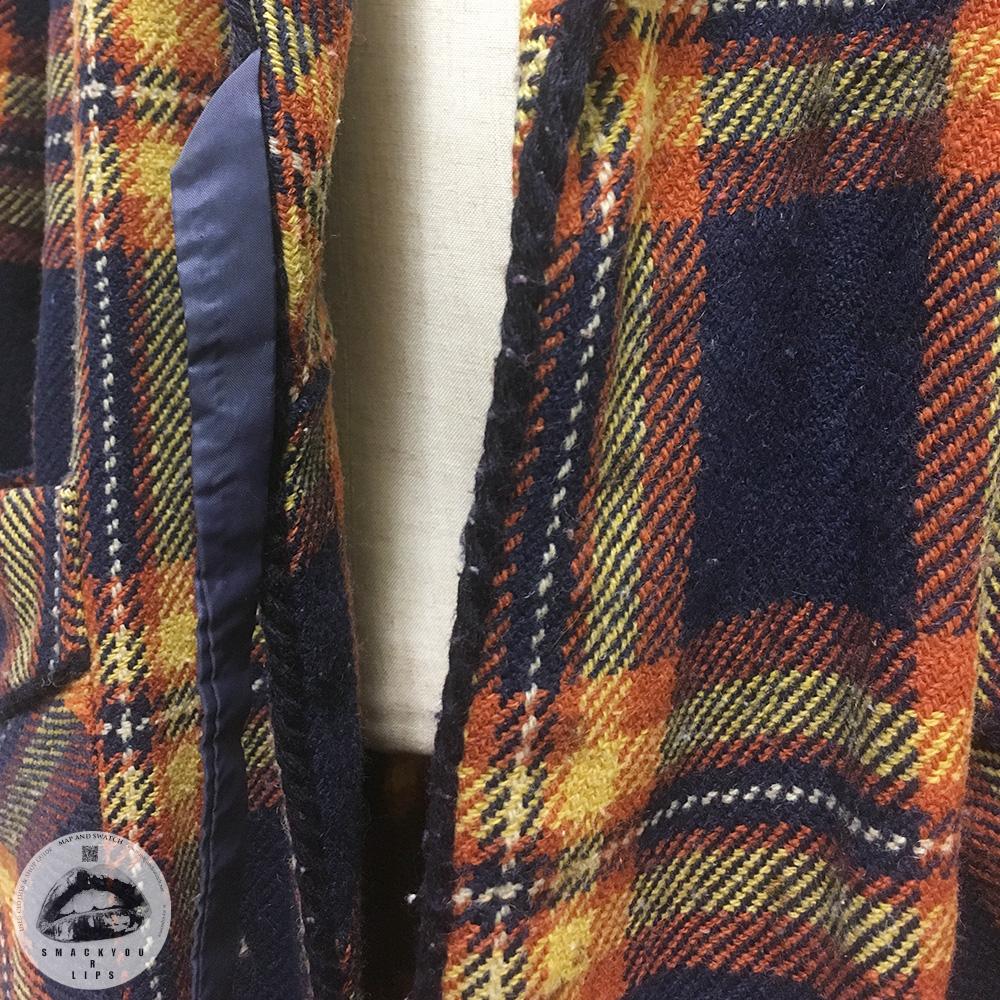 Plaid wool Robe